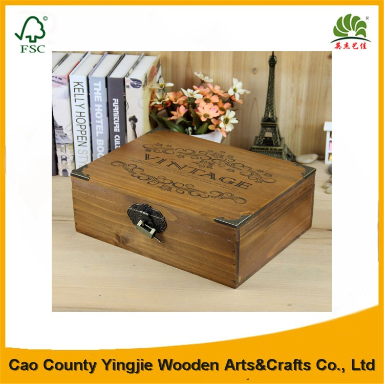 Classical Style Treasure Chests Vintage Retro Wooden Jewelry Antique Trinket Cosmetic Wood Box