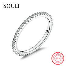 Cubic Zirconia 925 Sterling Silver Ring Wedding Band Cz Stackable Ring