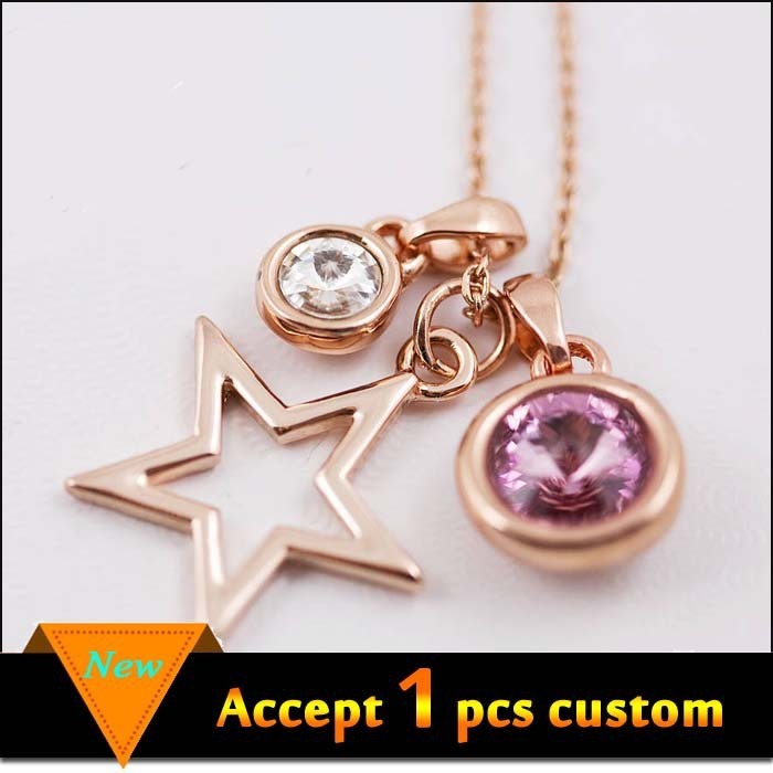 Best selling fashion jewelry gold plated diy star pendant design your own pendant