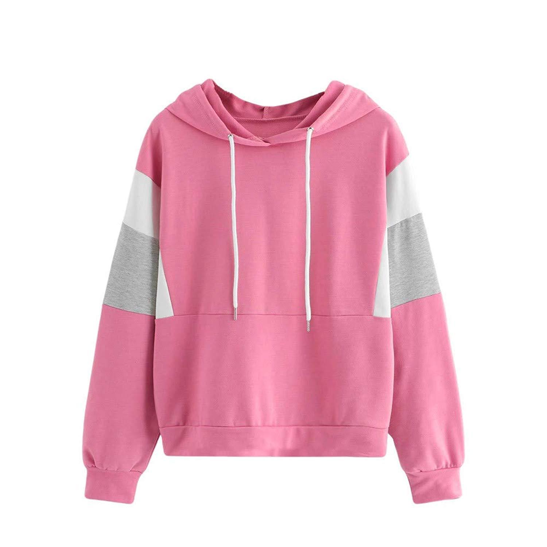 Meflying Women Fashion Letter Print Long Sleeve Pullover Hooded Loose Sweatshirts Top Fashion Hoodies