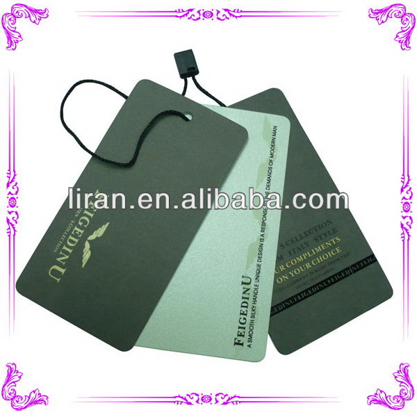 Cheap hot selling china paper hang tags for clothing