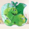 Green apple shape clock fashion creative wall clock