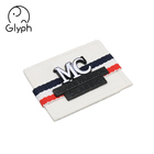 Jeans fashion classic custom leather patches with metal logo clothing tags for denim