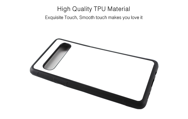 High Quality 2D Rubber Sublimation Blank Phone Back Cover For Galaxy S10 5G