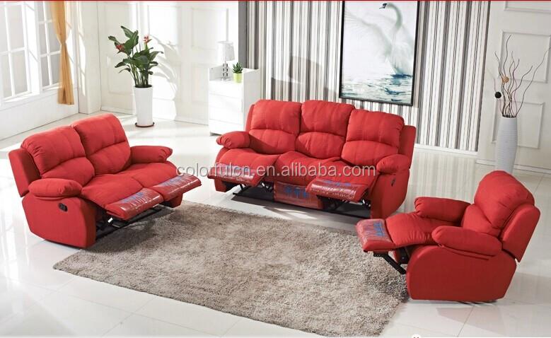 Manual Fabric Recliner Sofa