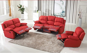Manual Fabric Recliner Sofa