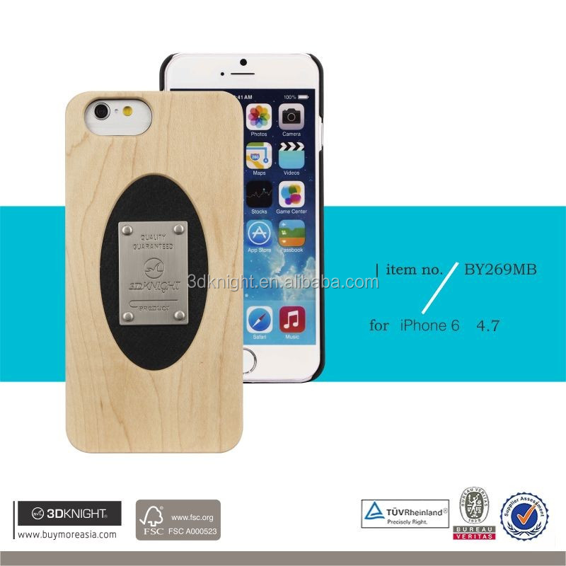 Carbon Bamboo Back Cover For iPhone 6 Plus ,For iPhone 6 back case real wood bamboo material luxury new arrival phone case