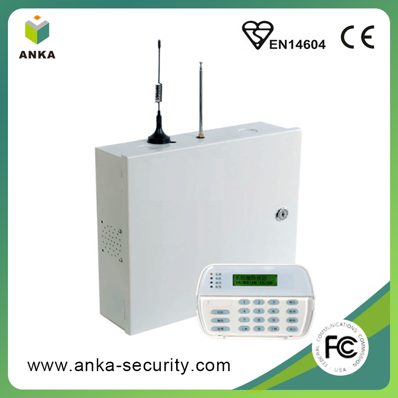 Free sample PTSN GPRS GSM wireless home burglar alarm panel