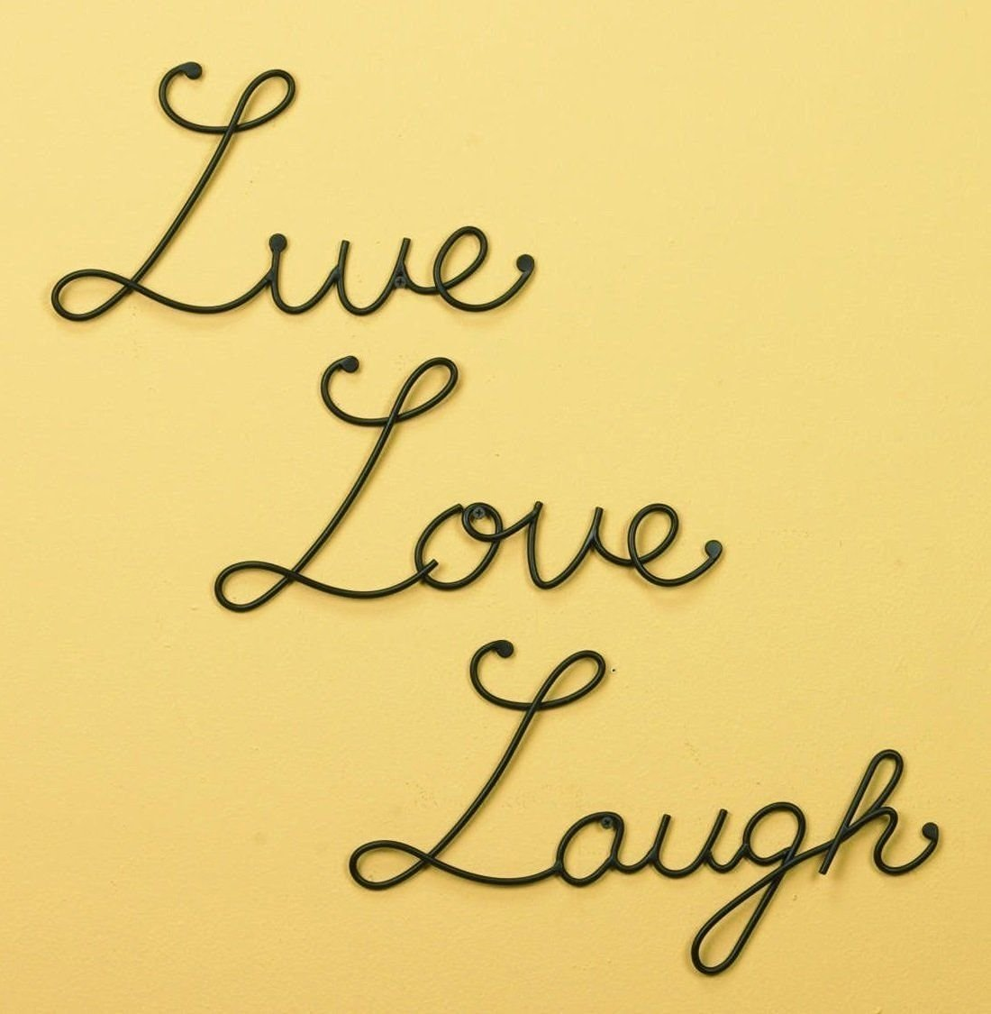 Buy Live Love Laugh Set 3 Wall Mount Metal Wall Word Sculpture Wall ...