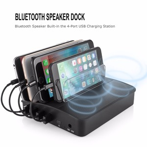 Wireless speaker Audio speaker USB charging dock station 4 ports charger With EU/UK/US/AU/JP adapter