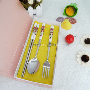 Hot-sale ceramic handle cultery set