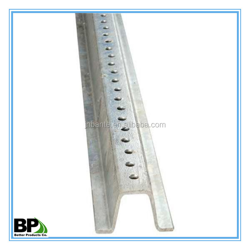 Steel Material U-Channel Posts in Tapered Ends with OEM Service