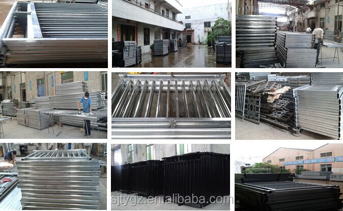 Factory directly sale of wrought iron square tube gate