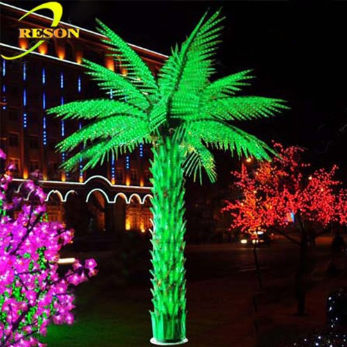 Outdoor Lights Led Artificial Palm Tree Leaves Party Decoration