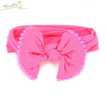 Wholesale Nylon Bow Baby Headbands Soft Infant Toddler Headbands ... 0bdbe1ee87b