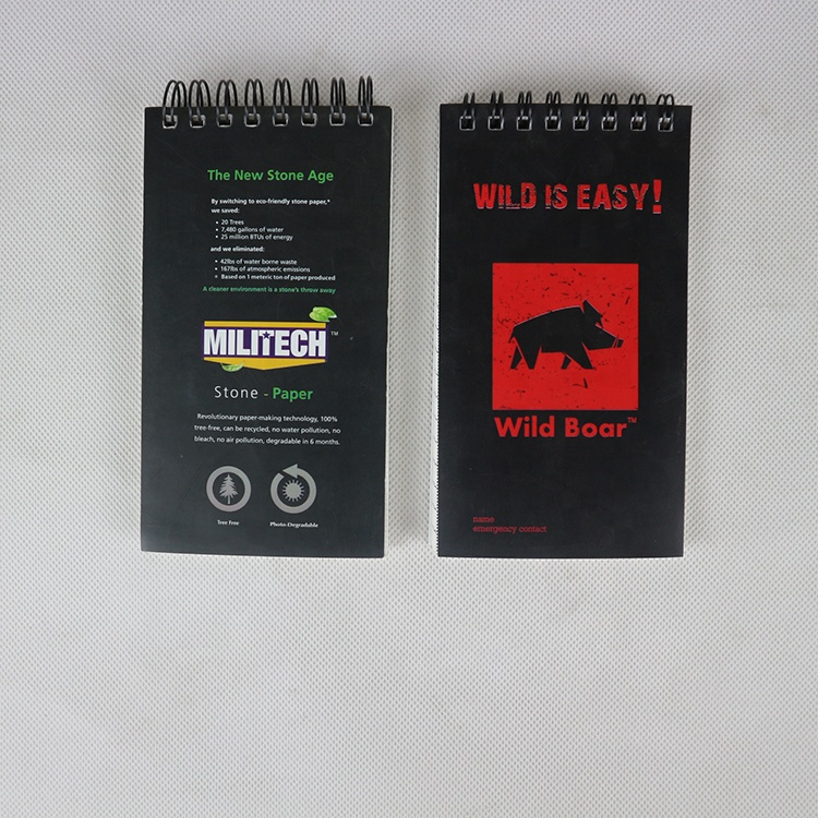 custom size and logo waterproof stone paper notebook