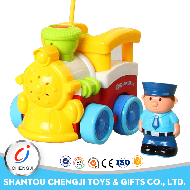 New design kids funny hot cartoon plastic mini remote control toy toy train