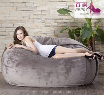 Lazy Double Seat Micro Suede Cover Foam Filling Bean Bag