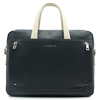 CSQJB136-001 two cc flat handle bags sides zipper pocket men leather business laptop briefcase bag