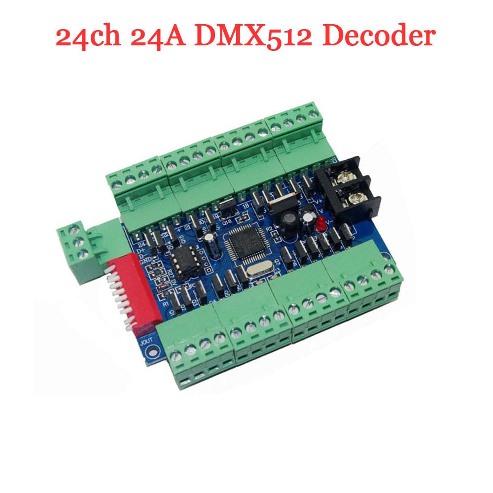 24ch 24a Pcb Led Dmx Decoder