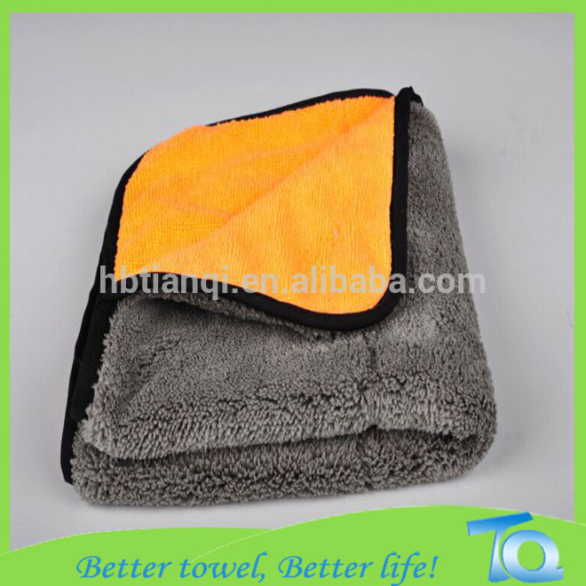 Thick and quality plush microfiber car drying towel with bordure