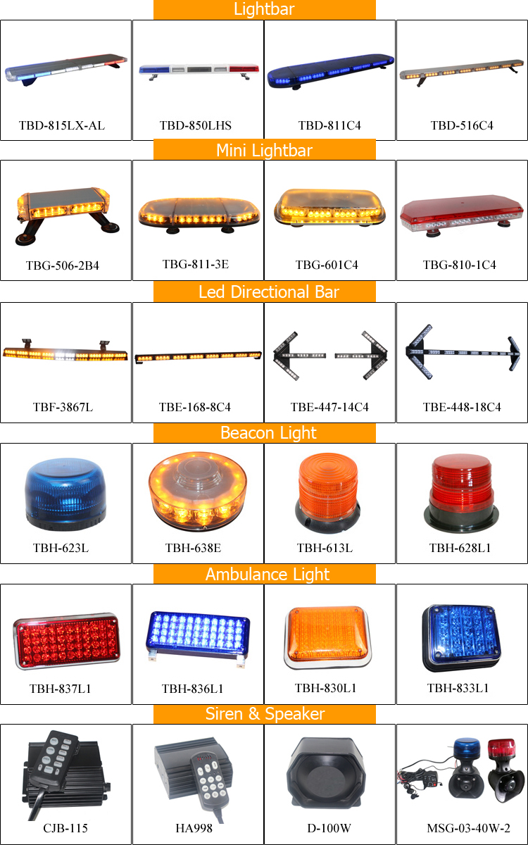 1W 3W 12V 24V Interior amber led dash traffic warning directional light bar light bars TBF-3867L
