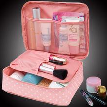Neceser Floral Nylon Zipper Novas Mulheres bolsa de Maquiagem saco de Cosmética caso Compõem Organizador de Higiene Pessoal kits saco de Lavagem De Viagem De Armazenamento bolsa