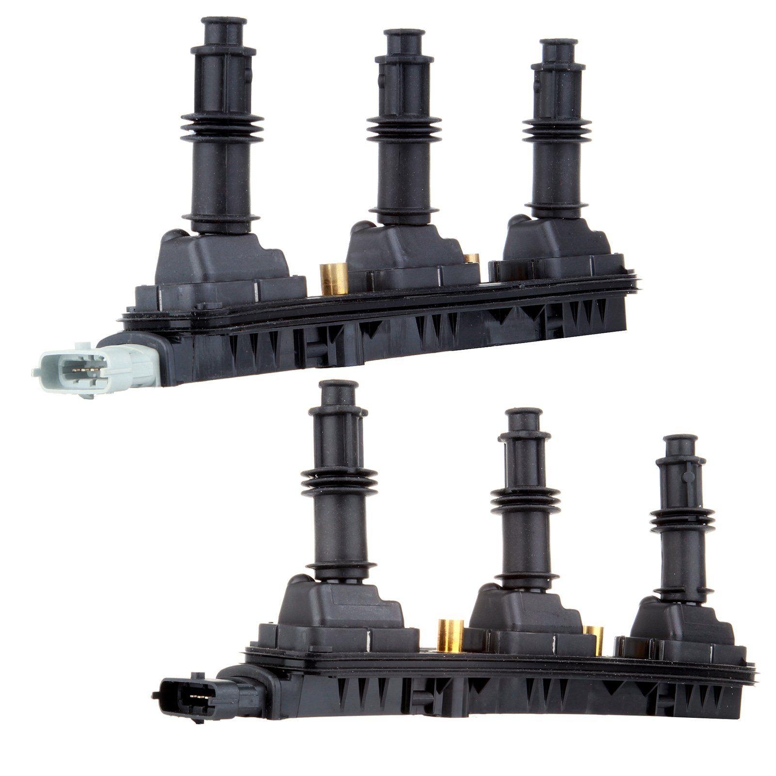 ECCPP Ignition Spark Coil Packs Pair Set NEW for Cadillac Catera CTS Saturn Vue L