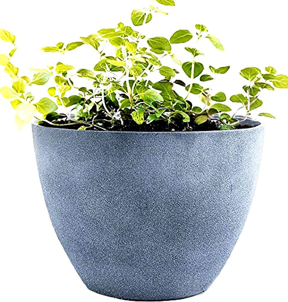 Get Quotations · Large Flower Pots Outdoor Resin 14.2\  Garden Planters Indoor Unbreakable Containers With Drain Hole Grey  sc 1 st  Alibaba & Cheap Extra Large Outdoor Planters find Extra Large Outdoor ...