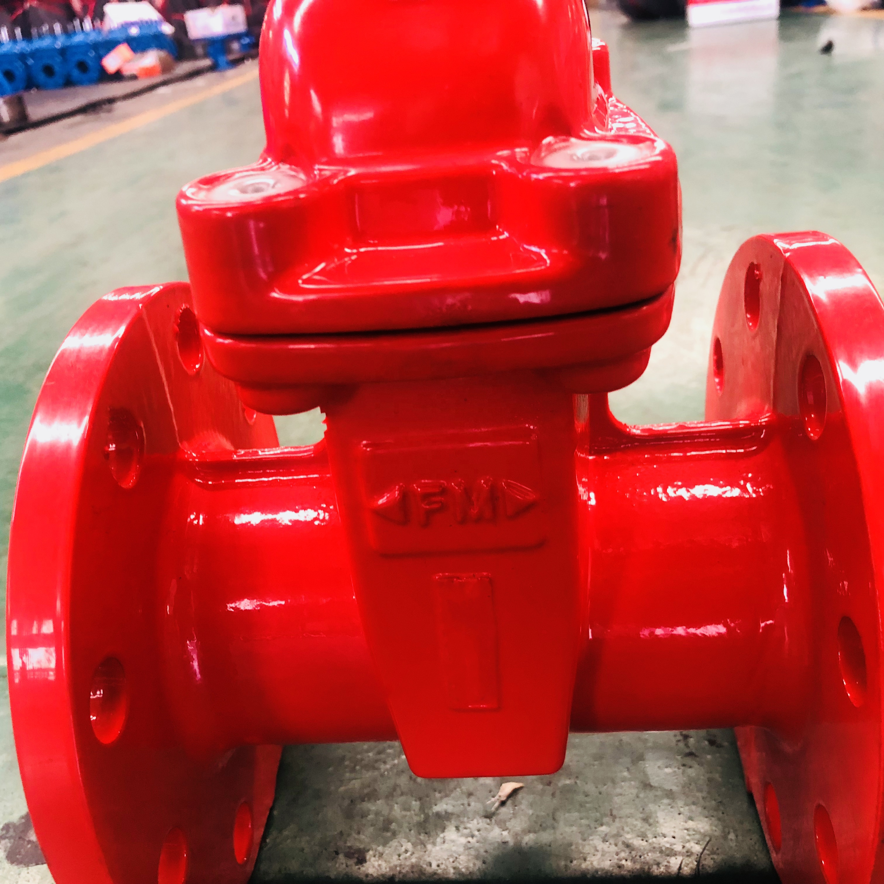 Ductile Iron Fire Protection Resilient Wedge Flanged Gate Valve