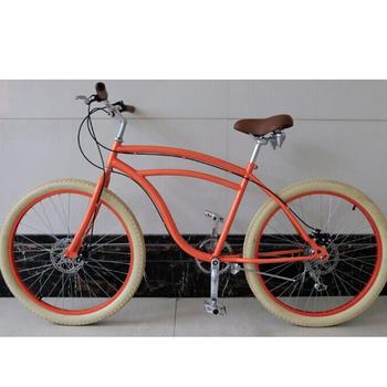 Disc Brake Bicycle Colorful Beach Cruiser Bike