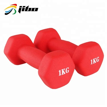 Multi-color hexagon vinyl dumbbell custom gym dumbbell set for sale