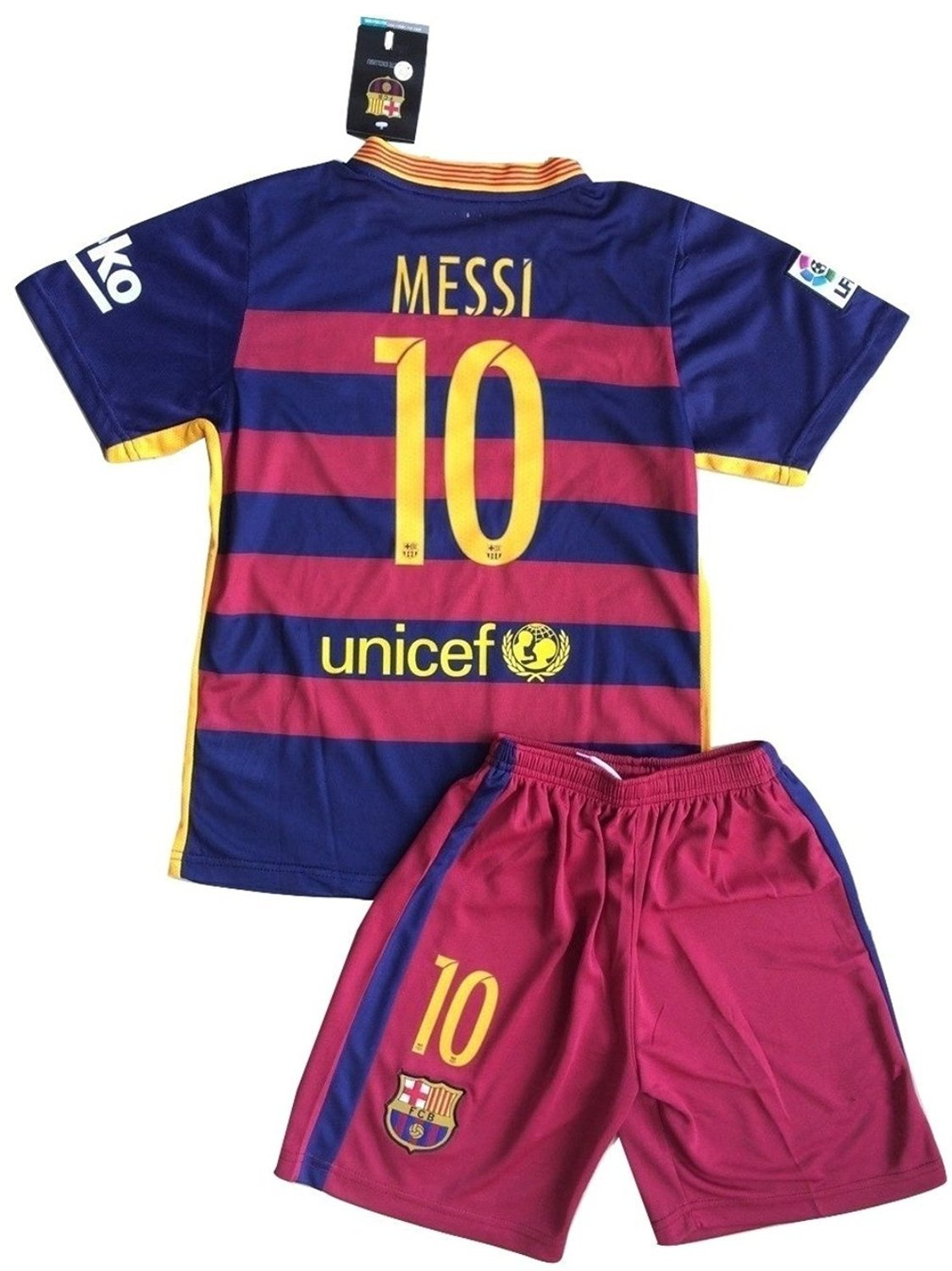 786023058 2015 2016 Barcelona Home Leo Messi Home Youth Sizes Soccer Kids Jersey  Shorts (8