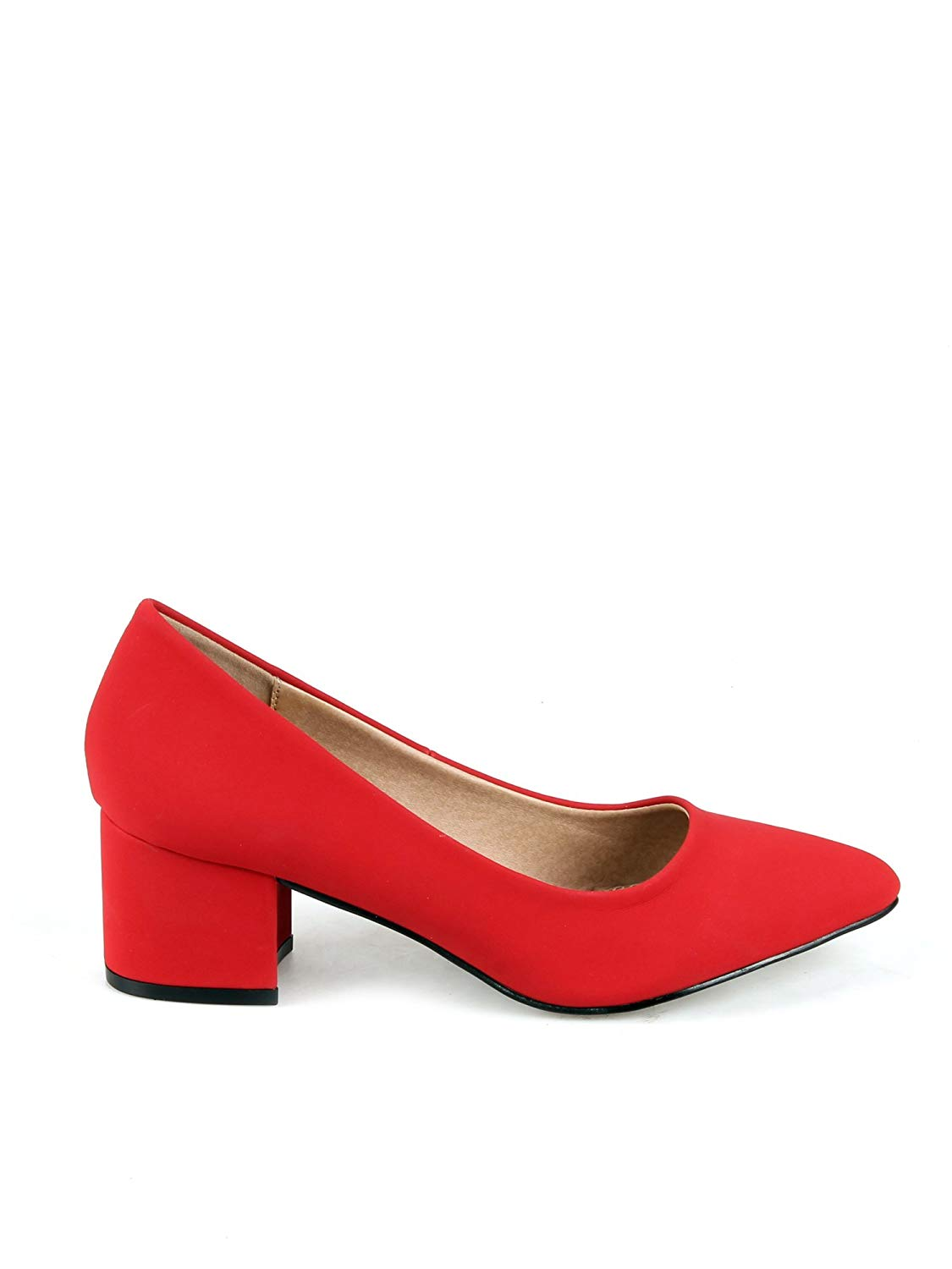 83407ae8b32 Mark and Maddux Chunky Heel Women s Pointed Pumps in Red