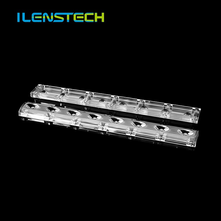 332*40mm optical pc led linear light lens led focusing lens linear LED Fixture Lens