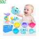 Hot selling new summer toy children's play water beach spray toy sets