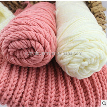 Natural Soft Milk Cotton Yarn Thick Yarn For Knitting Baby Wool