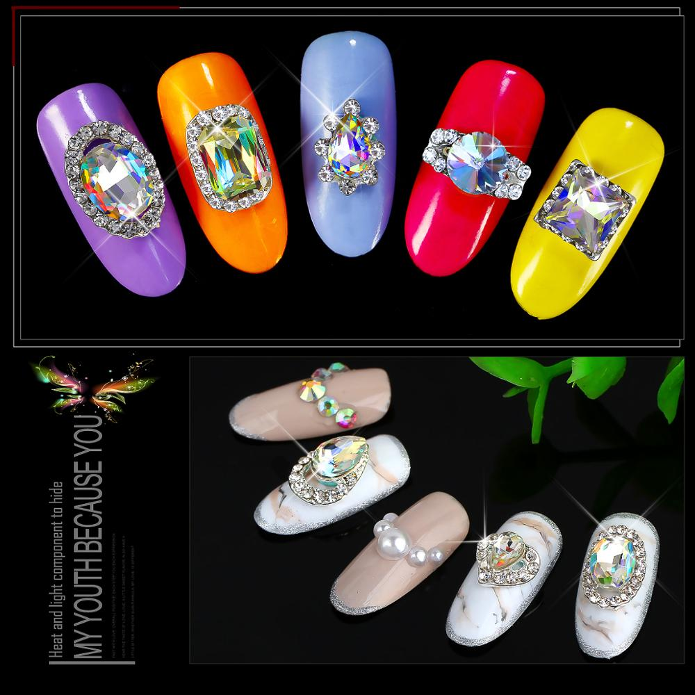 Rhinestones & Decorations Clever Nail Diamond Manicure Diy Decorations Japanese Fancy Diamond Nail Jewelry Shield Drill Tips Crystal Phototherapy Solid Color