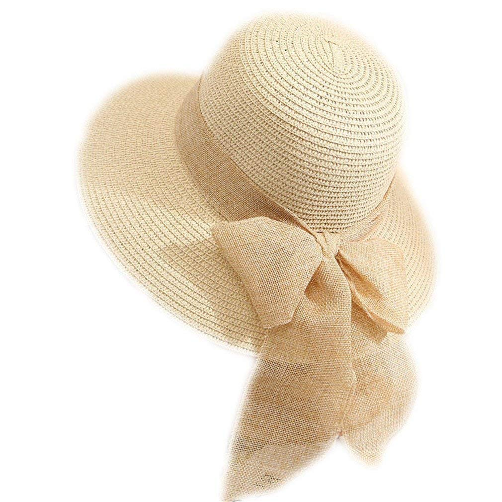 e5e28426 Get Quotations · New Hot Sale Fashion Summer Beach Hat Large Brimmed Hat  Summer Hat Hat Bow For Women