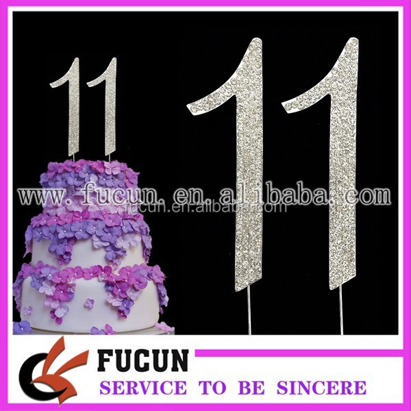 Silver Number 11 Birthday Cake Pick Topper Decoration Buy Birthday