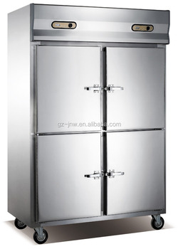 Restaurant Kitchen Stainless Steel 4 Door Freezer/ Commercial Side By Side  Refrigerator Freezer/Commercial