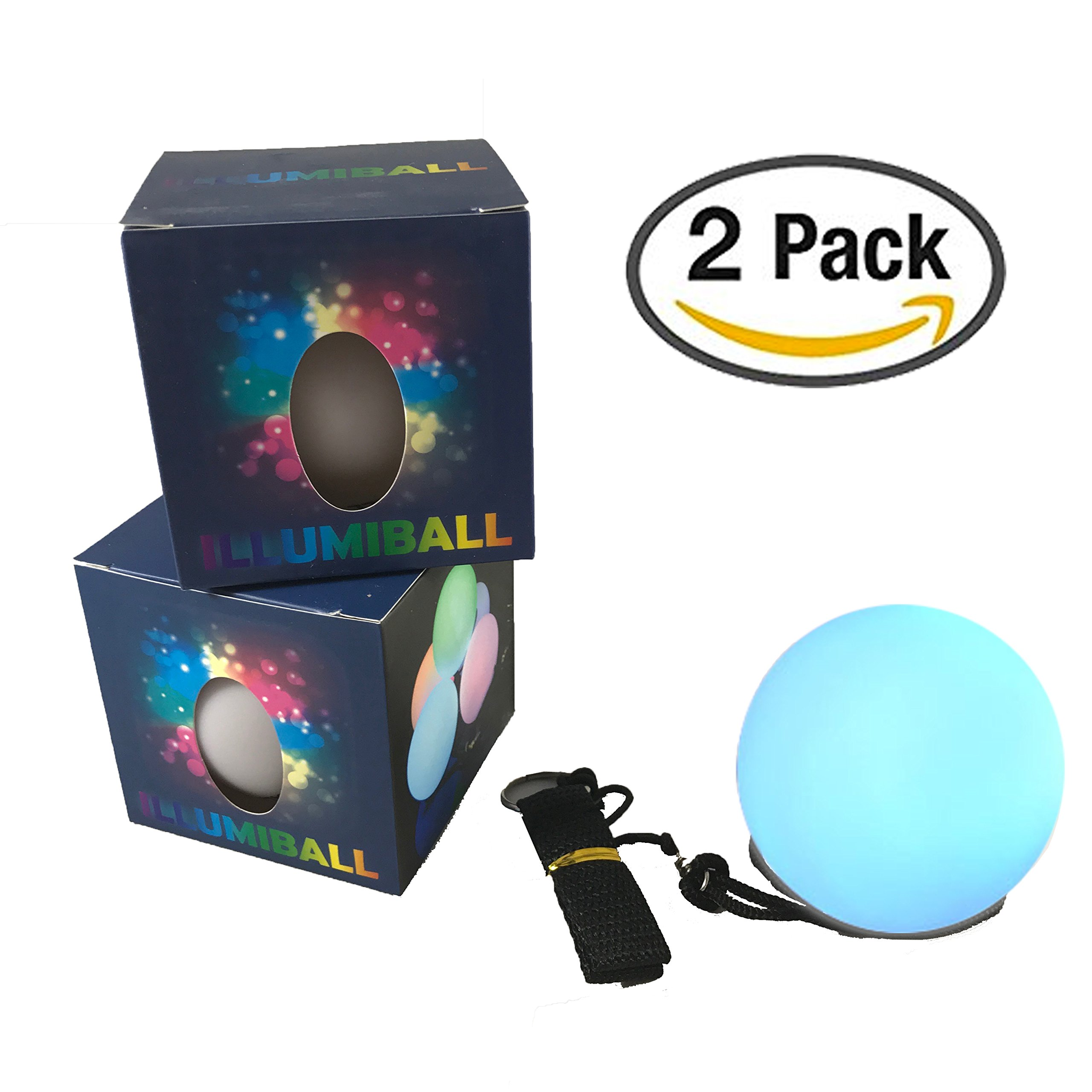 Illuminet ILLUMIBALL LED Light Ball POI: 2 Pack, LED POI Balls, Glow Balls, LED Ball Light, Light Up Balls, Rave Lights, Spinner Balls, Glow Balls, Stress Ball, Parties, Beach, Dances, Camping Fun