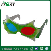 Custom logo cheap recycled red blue 3D paper glasses,Cardboard 3D Glasses ,Promotional Customized Paper 3D Glasses