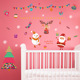 SD040 Christmas New Year Children'S Bedroom Bedside Window Decoration Wall Stickers Glass Door Stickers To Map Custom