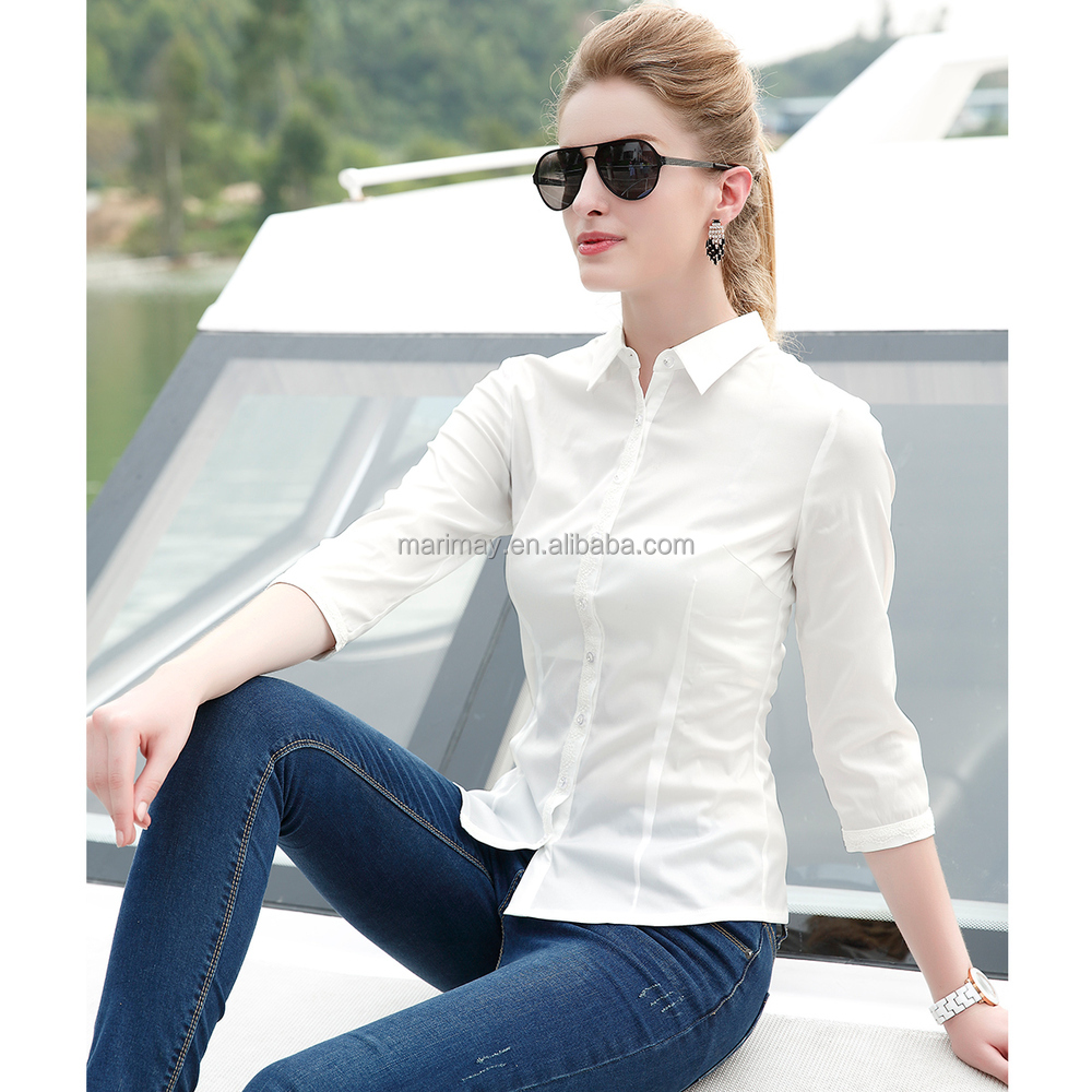 Shirt design long sleeve shirt fashion lady shirt for How to design shirt