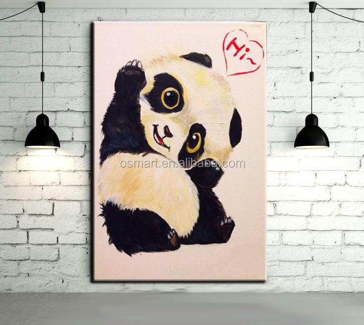 Chambre de b b d coration murale belle animal b b panda Chambre bebe panda
