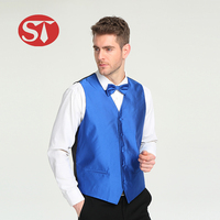 Professional fancy design fashionable wholesale blue quilted work man vests for suit