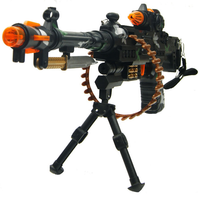 Toy gun boy toy submachinegun toy gun acoustooptical electric toy boy gun Submachine gun Flash infrared gunfire vibration