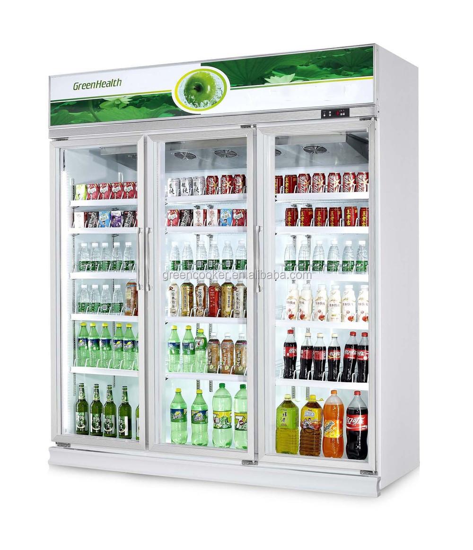 Doppeltür Getränke Display Kühler/getränke Anzeige Kühlschrank ...