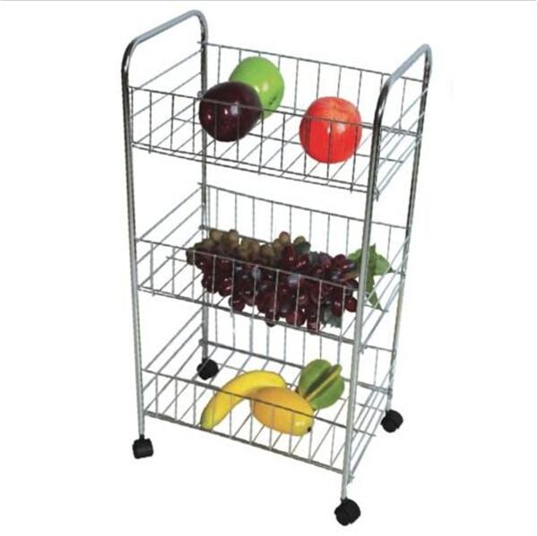 Rangement Fruits Et Légumes: 3 Niveaux Cuisine Fruits Légumes Chariot Chariot De